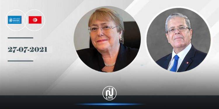 الجرندي للمفوضة السامية لحقوق الإنسان: رئيس الجمهورية حريص على احترام الحريات