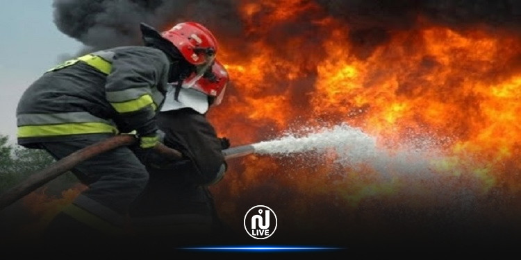 اندلاع حريق بمستودع الشركة الجهوية للنقل بمدنين