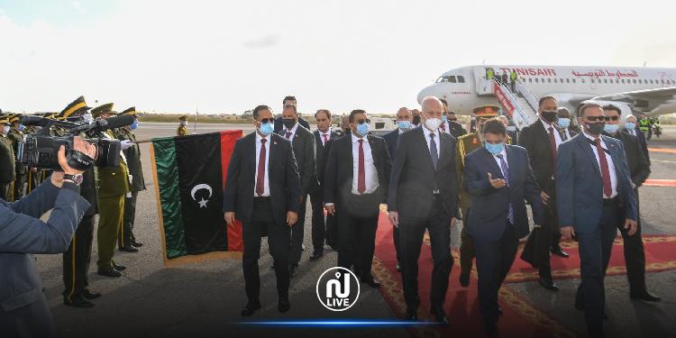 Kais Saied arrive en Libye pour une visite officielle