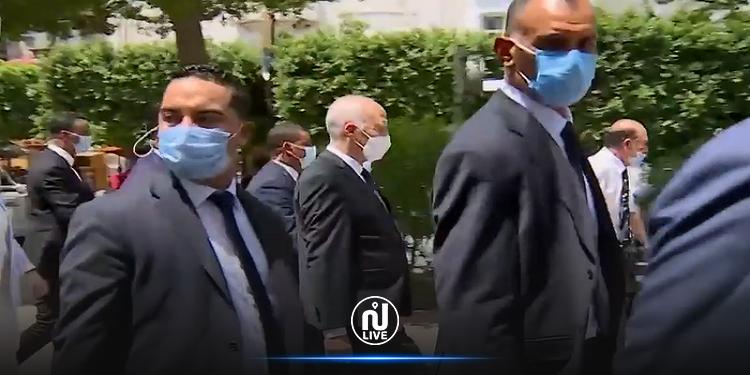 Kais Saïed en visite à l'Avenue Habib Bourguiba