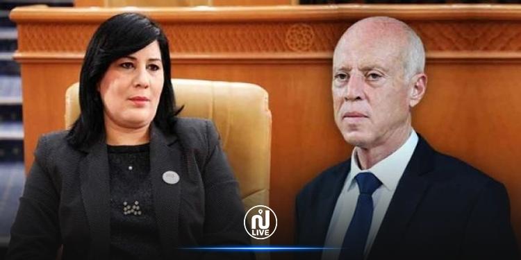 Abir Moussi porte plainte contre le président de la République