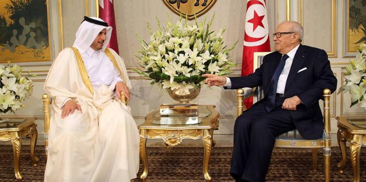 رئيس الجمهورية يلتقي رئيس مجلس الوزراء ووزير الداخلية القطري