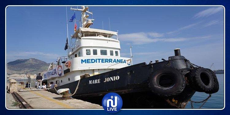 وصول باخرة إنقاذ ايطالية لميناء جرجيس