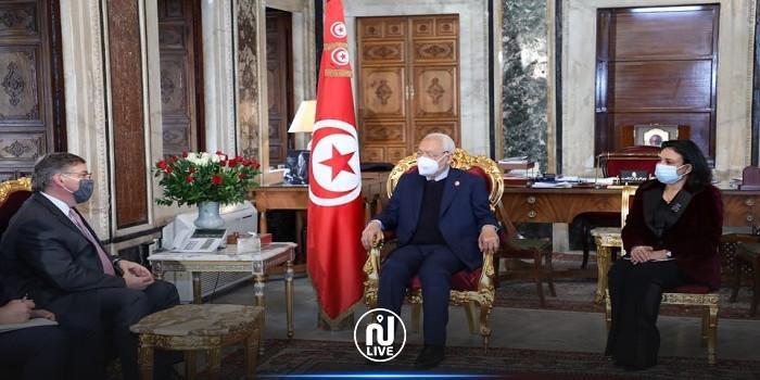 رئيس مجلس نواب الشعب يستقبل سفير الولايات المتحدة الامريكية بتونس