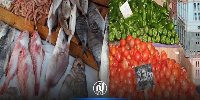 مع نقص الإمدادات: ارتفاع أسعار الجملة للخضر والغلال والأسماك خلال شهر جوان 2021