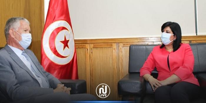 عبير موسي تستقبل سفير فرنسا بتونس