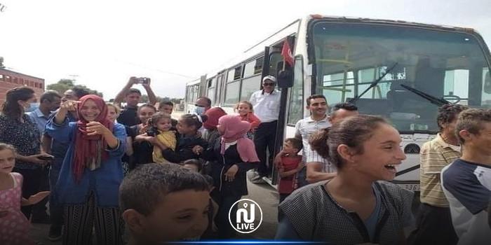 حقيقة صورة التلاميذ والحافلة التي أثارت جدلا..ليست في جبل سمامة