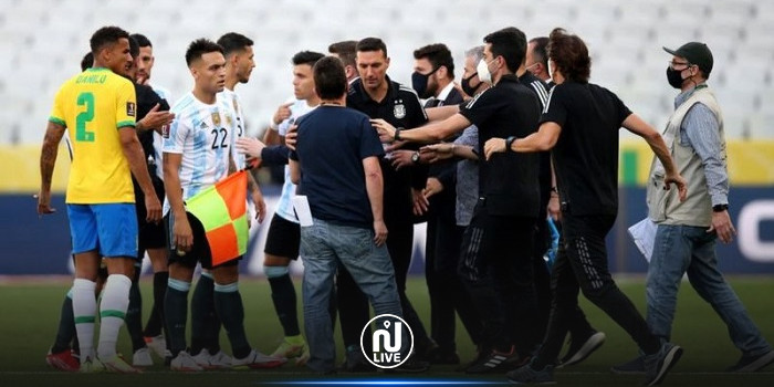 إيقاف مباراة البرازيل والأرجنتين في تصفيات المونديال إثر انتهاك قواعد وباء كورونا