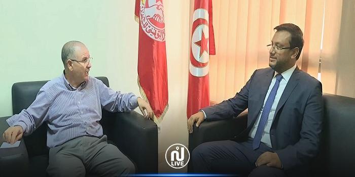 رئيس حركة قرطاج الجديدة  نزار الشعري يلتقي نور الدين الطبوبي