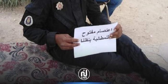 لليوم الخامس على التوالي: عدد من أعوان منطقة الأمن الوطني بقبلي في اعتصام مفتوح