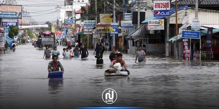مقتل 6 أشخاص وتدمير 70 ألف منزل جرّاء الفيضانات في تايلاند