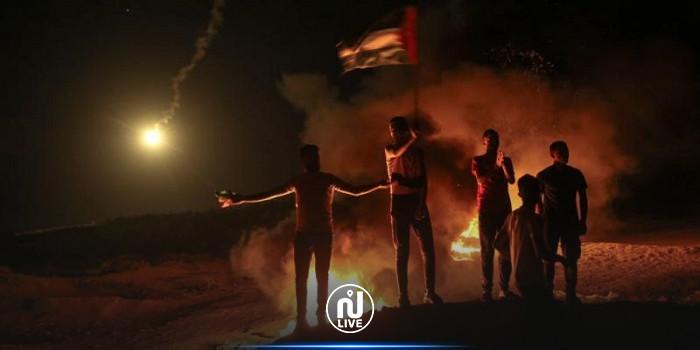 استشهاد شاب فلسطيني وإصابة 15 آخرين خلال فعاليات الإرباك الليلي على الحدود الشرقية لقطاع غزة