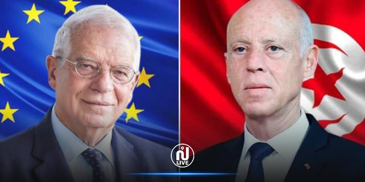 سعيّد يحيط ممثل الشؤون الخارجية بالاتحاد الأوروبي علما عزمه تنظيم حوار وطني والتقليص في مدة الإجراءات الاستثنائية