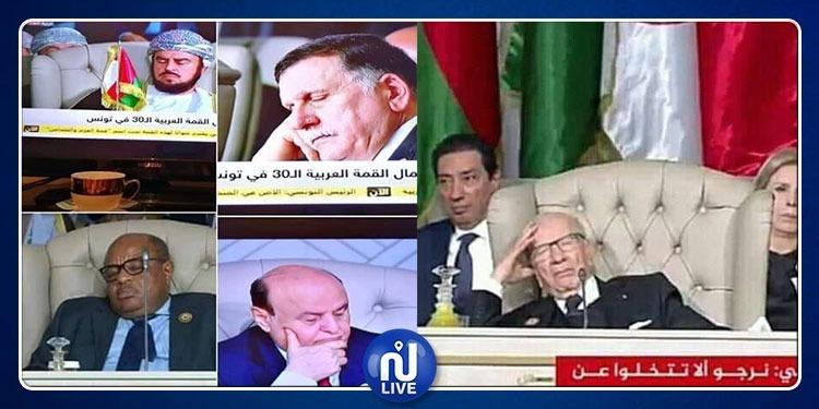 لا جديد... ''النوم'' يسجّل حضوره في القمة العربية (صور)