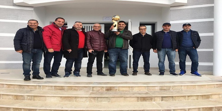رئيس جامعة كرة اليد يدشن  القاعة المغطاة الجديدة بمدينة سليمان