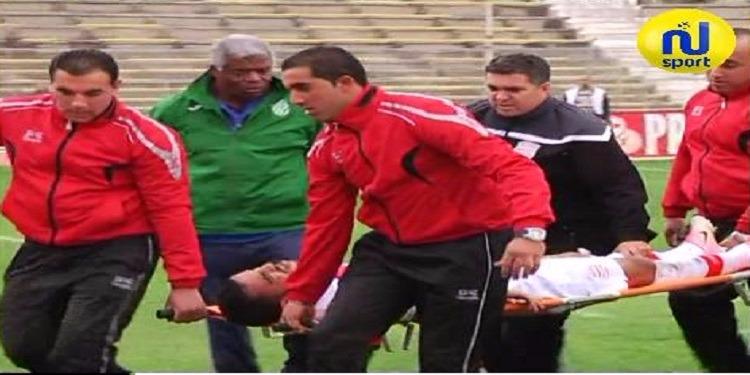 الجزائري إبراهيم الشنيحي يتعرض إلى إصابة خلال مباراة الإفريقي والملعب القابسي
