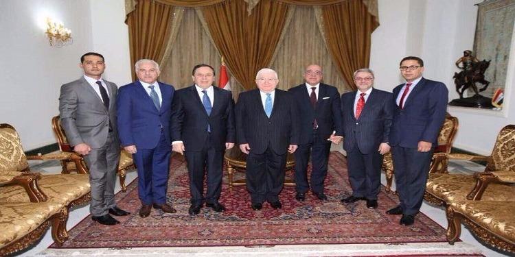 ظاهرة الإرهاب والملف الليبي فحوى لقاء الجهيناوي بالرئيس العراقي
