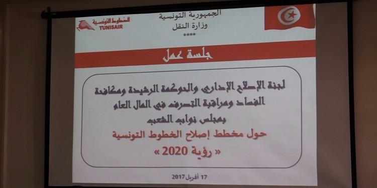 جلسة عمل لمناقشة مشروع مخطط إصلاح شركة الخطوط التونسية ''الرؤية 2020''
