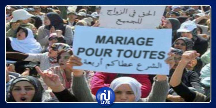 Aujourd'hui, devant l'ARP: Des Tunisiennes réclament la polygamie