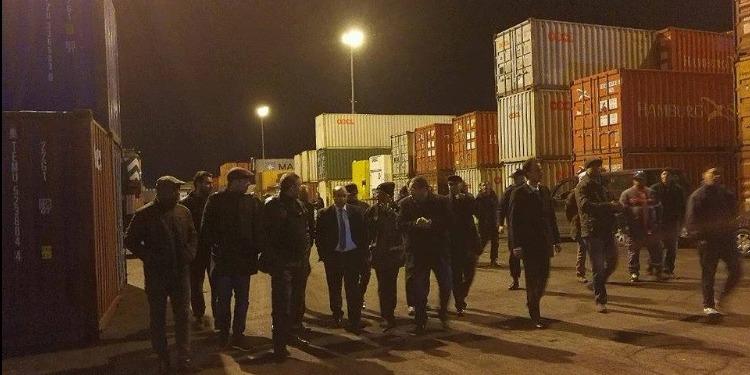 وزير النقل يؤدي زيارة ليلية غير معلنة إلى ميناء رادس ويعلن جملة من المشاريع