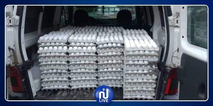 الكاف: ضبط شاحنة محملة بـ 30 ألف بيضة