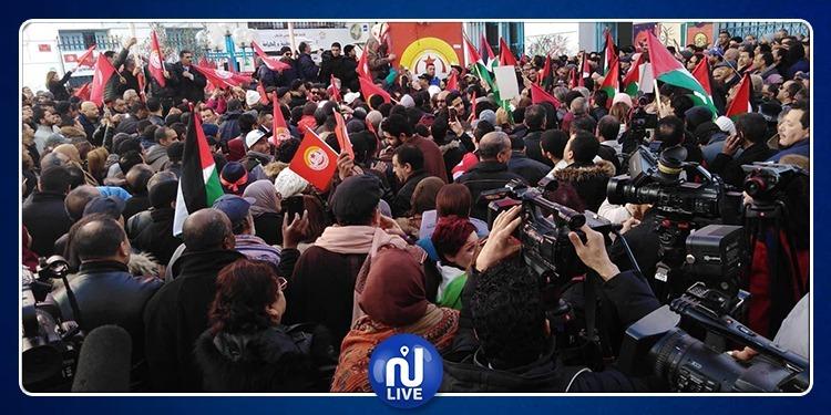 بطحاء محمد علي: النقابيون يطالبون بـإسقاط النظام (فيديو)