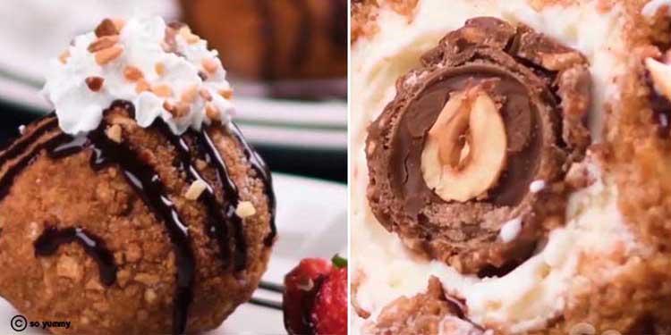 مثلجات مع كرات الشوكولاتة بطريقة جديدة