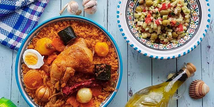 وصفة كسكسي بالدجاج على الطريقة التونسية