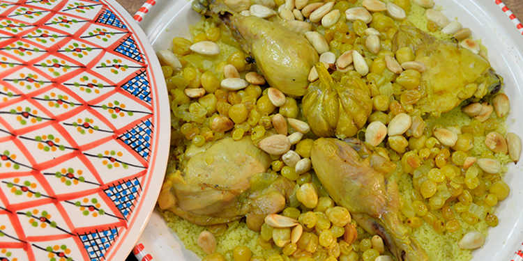 Couscous au poulet et aux fruits Secs