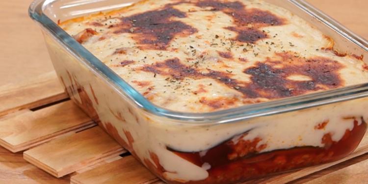Recette Moussaka gratin d'aubergines et de viande hachée