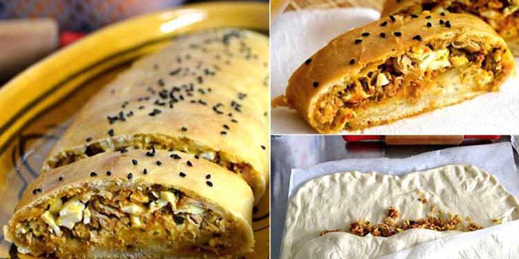 خبز محشي على الطريقة التونسية