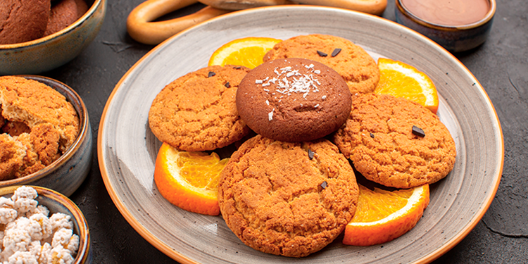 Cookies aux zestes d'orange et vanille