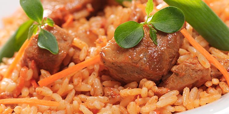 أرز تونسي بلحم العجل