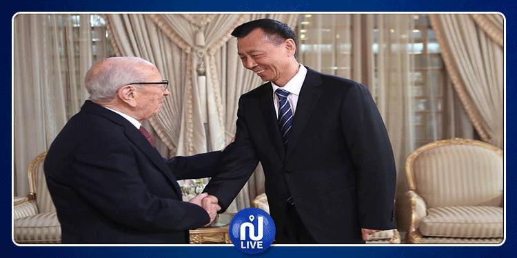 رئيس الجمهورية يستقبل نائب رئيس المؤتمر الاستشاري السياسي للصين