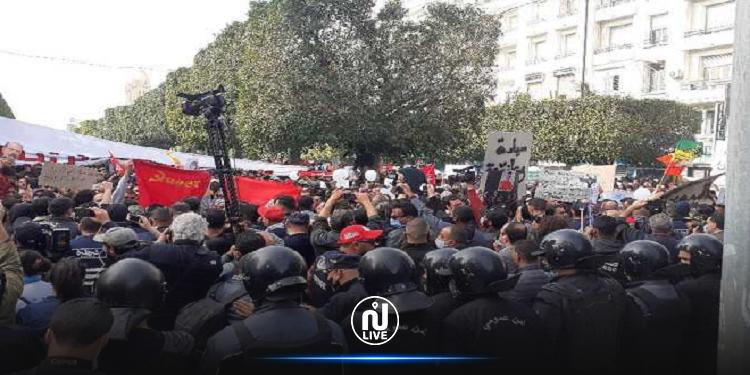 مسيرة شارع بورقيبة: تبادل للعنف بين المتظاهرين