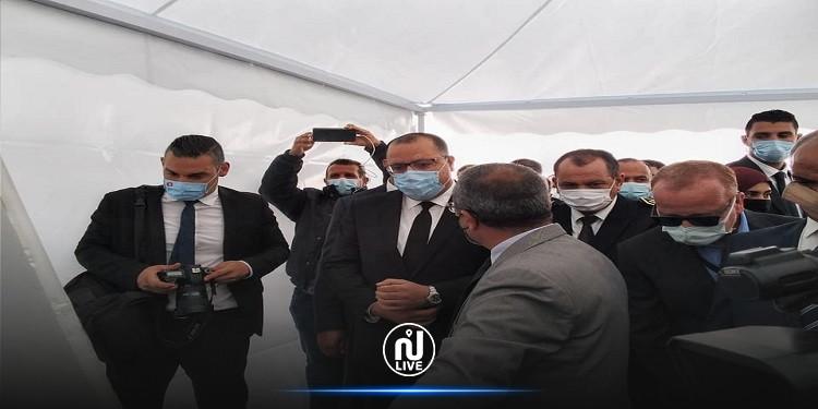 رئيس الحكومة يتابع  أشغال إعادة تهيئة البنية التحتية بمطار جربة جرجيس الدولي