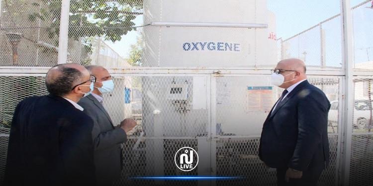 وزير الصحة يتفقّد محطة الأوكسجين وجناح كوفيد-19 بمستشفى الرابطة