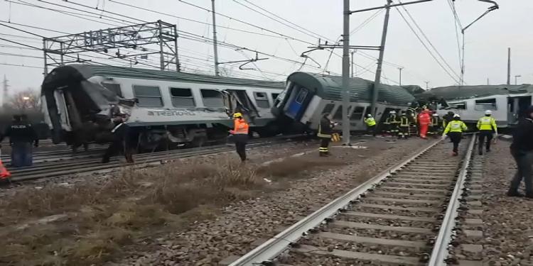 Italie : Deux morts et plusieurs blessés, dans le déraillement d'un train à Milan (Photos)