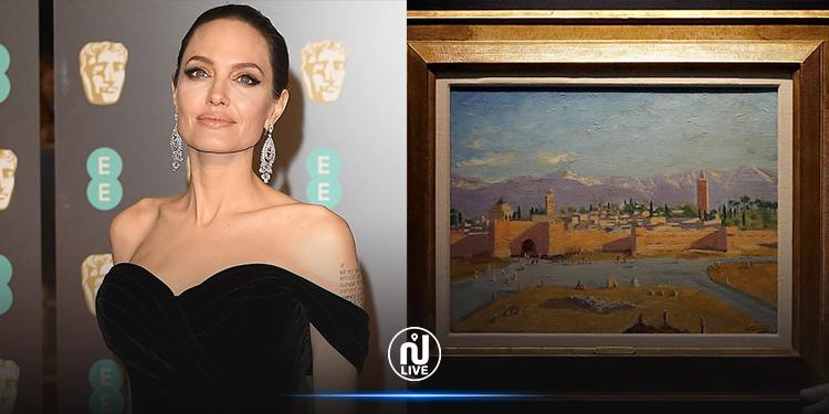 أنجلينا جولي تبيع لوحة تشرشل بـ 11.5 مليون دولار