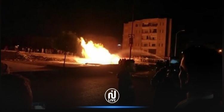 اندلاع حريق هائل في أحد خطوط الغاز بمصر (فيديو)