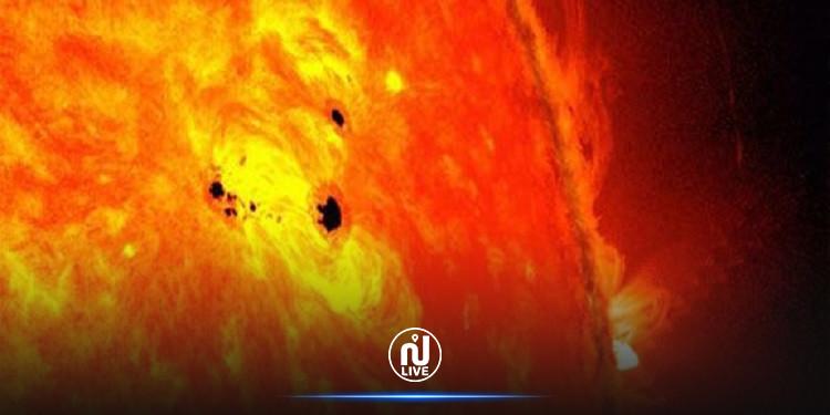 علماء يحذرون من بقع شمسية ستطلق قريبا توهجا نحو الأرض مباشرة!