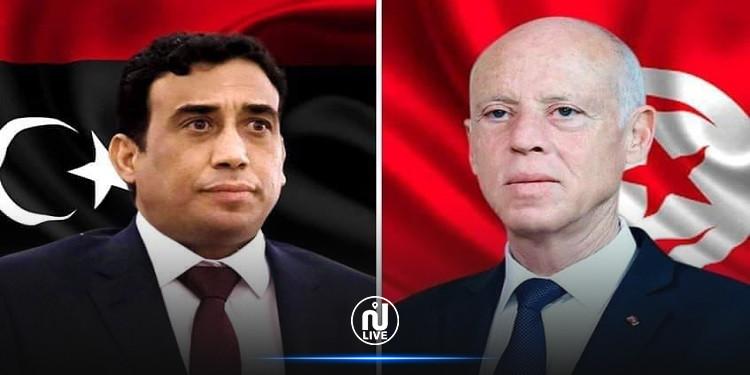 المنفي يؤكّد حرص ليبيا على معاضدة جهد تونس في مجابهة كورونا