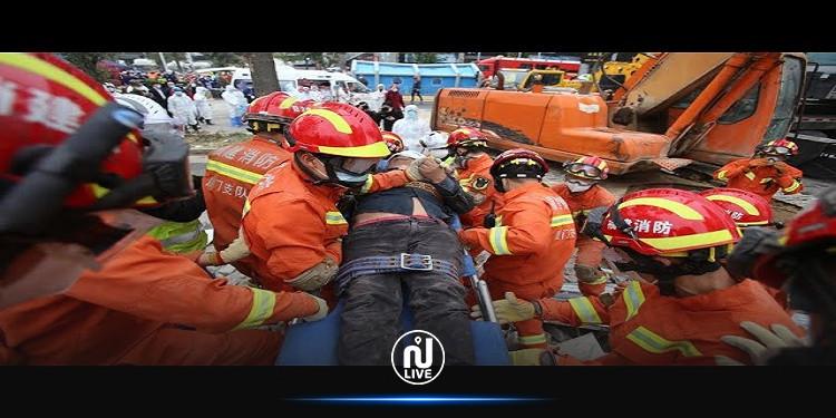 الصين: 8 قتلى و9 مفقودين في انهيار فندق