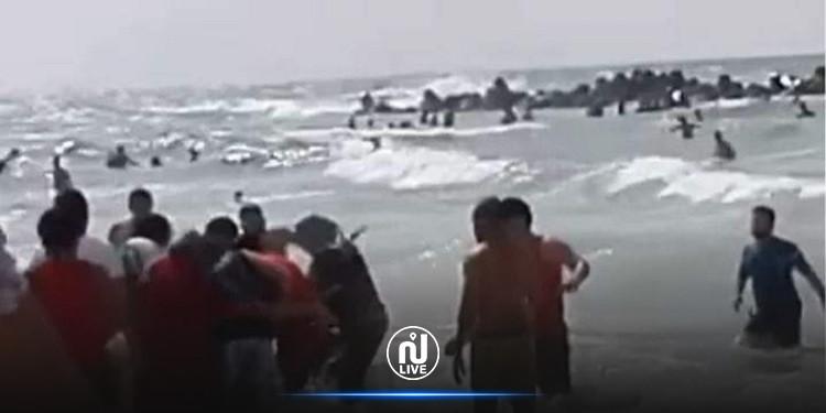 بنزرت: وفاة كهل وإنقاذ 5 أشخاص من الغرق بشاطىء رأس انجلة