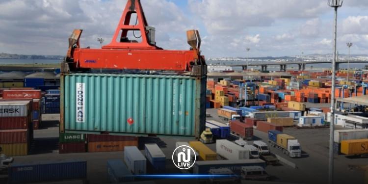 تقلص العجز التجاري الى حوالي 1275 مليون دينار  خلال شهر أوت