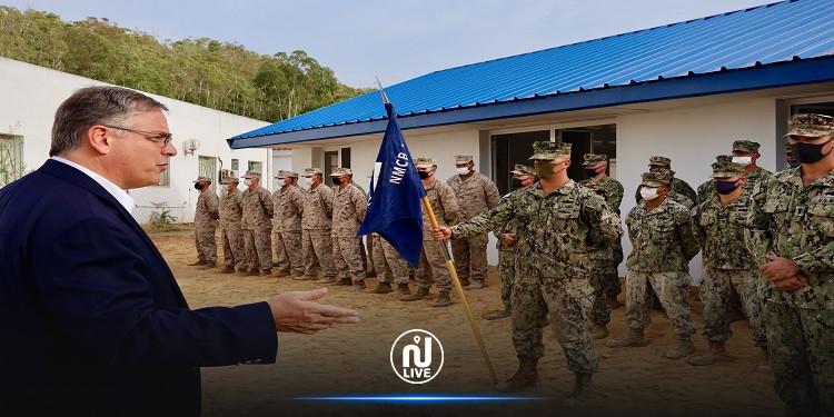 كتيبة البناء البحرية الأمريكية  تركّز بالاشتراك مع مهندسي البحرية التونسية مرفقا طبيا بالمستشفى الجهوي بطبرقة