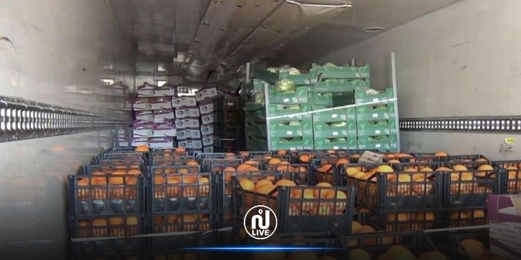 أريانة: حجز 33.5 طن من الغلال بمخزن تبريد عشوائي