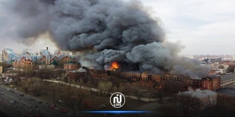 ارتفاع حصيلة ضحايا حريق مصنع بروسيا إلى 15 قتيلا