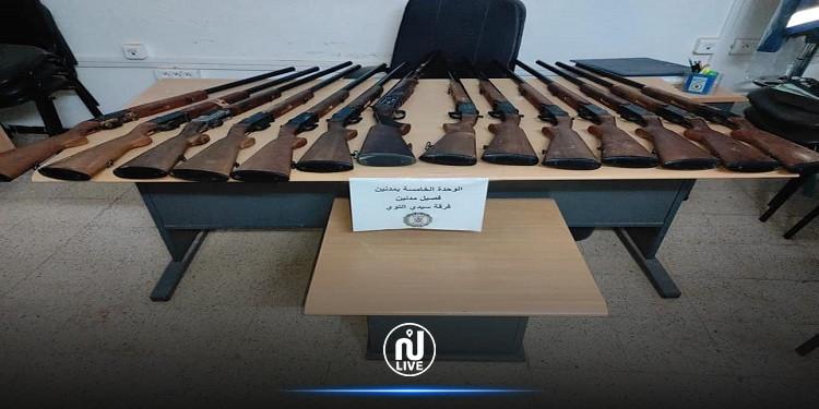 مدنين:  الحرس الديواني بسيدي التوي يحجز 14 بندقية صيد مهربة