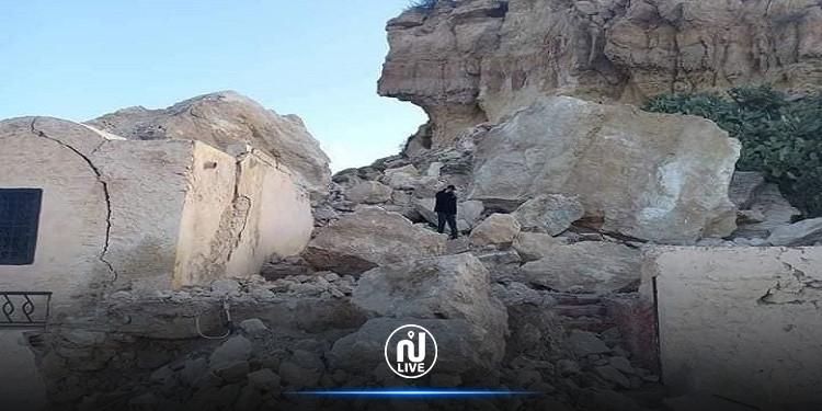 النفيضة: انهيار جزء من جبل تكرونة الأثري
